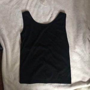 Tops - black scoop back tank top